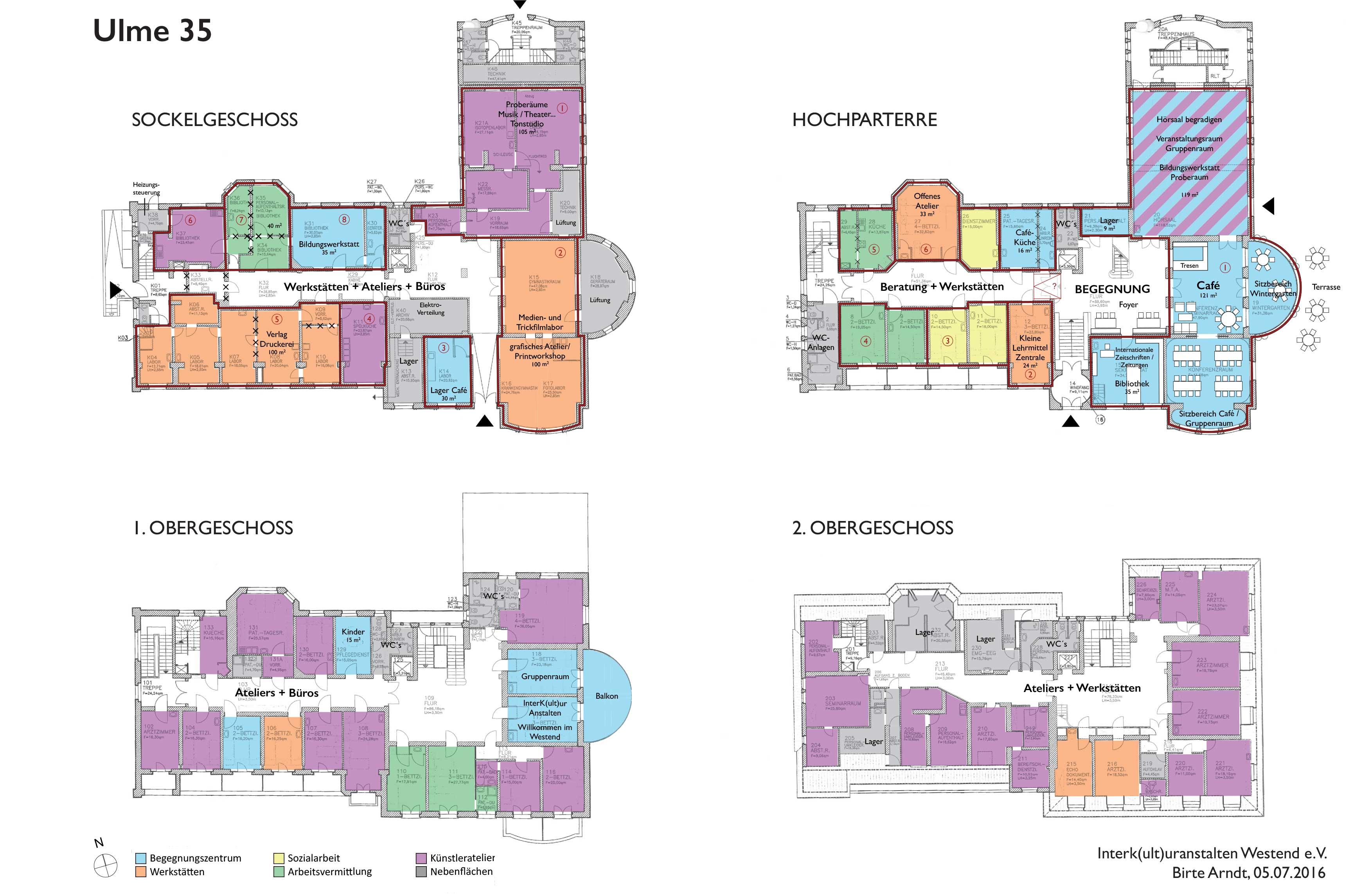 Grundrisse der Villa