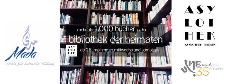 Ab dem 26.5. geöffnet: Unsere Bibliothek der Heimaten –  کتابخانه هایمآتن (Heimaten)