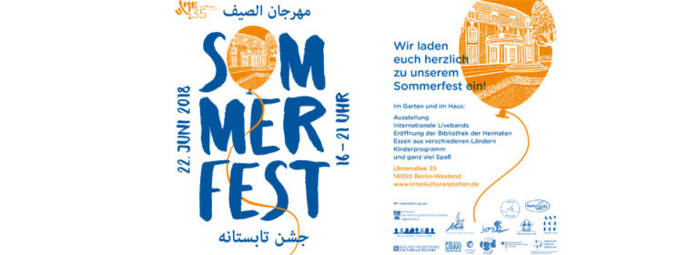 22.6. von 16.-21.00 Uhr Sommerfest 2018 – مهرجان الصيف – جشن تابستانه