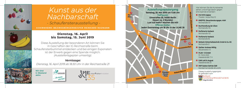 Einladung Vernissage Kunst aus der Nachbarschaft am 16.04.2019